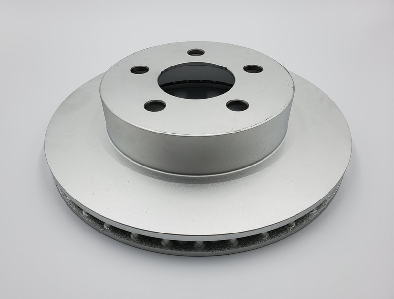 vented rotors with corrosion coating (most rotors)